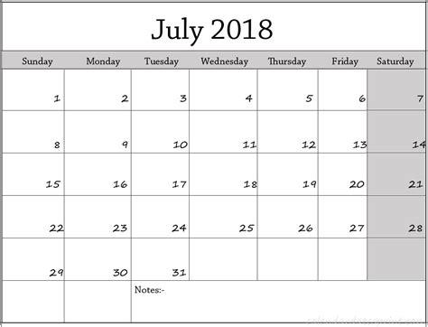 printable calendar 2018 europe free july 2018 calendar printable template us canada uk