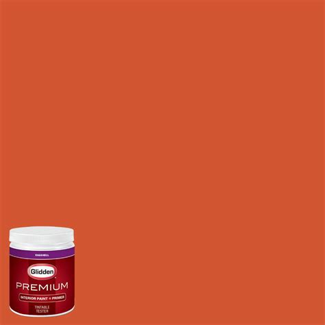 glidden premium 8 oz nfl 133h ta bay buccaneers orange eggshell interior paint with