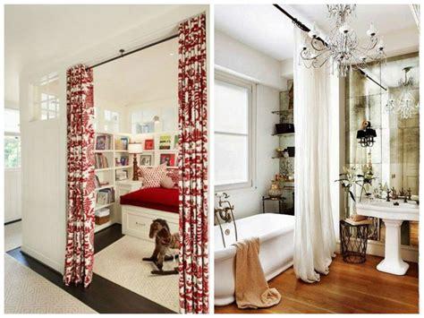cortinas para separar ambientes separando ambientes saem as paredes entram as cortinas