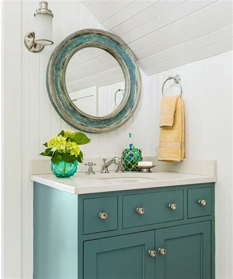 Teal Bathroom Vanity Vintage Cottage Timeless Appeal