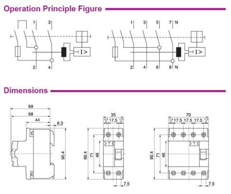 wiring diagram pole rcd 188 166 216 143