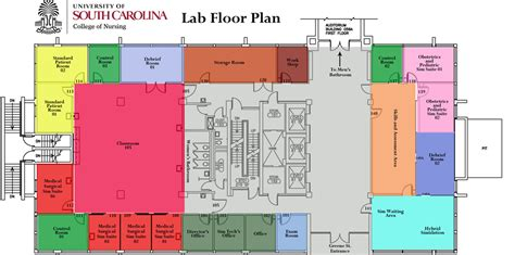 laboratory floor plan about the clinical simulation lab college of nursing