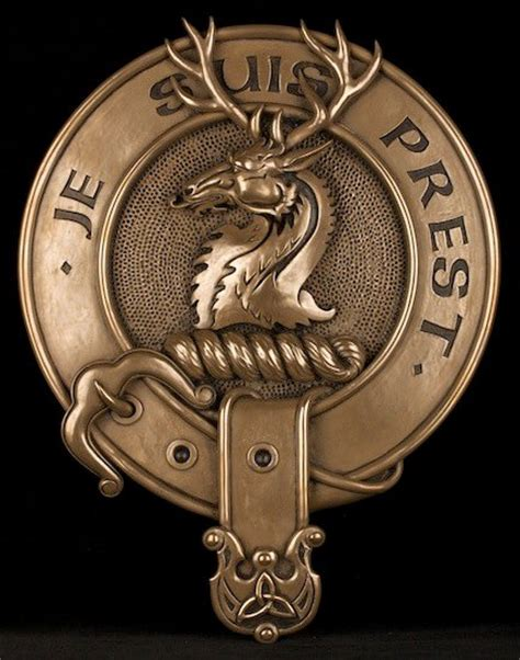 clan fraser of lovat cold cast bronze wall plaque celtic