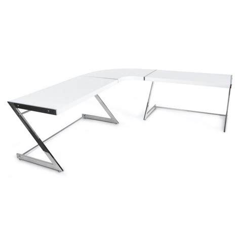 bureau d angle design blanc bureau d angle design tutti en bois laqu 233 et m 233 tal chrom 233