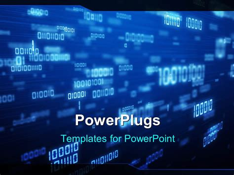 Powerpoint Template A Representation Of Various Binary Numbers 3444 Binary Powerpoint Template