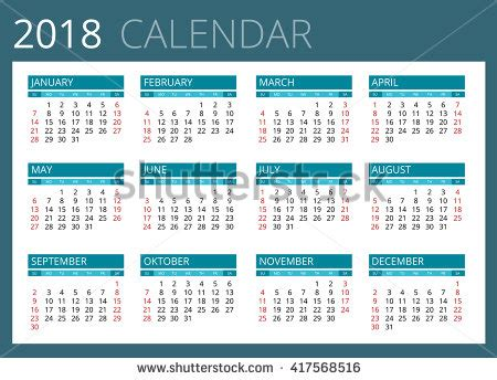 Kalender 2018 Eps 2018 Stock Photos Royalty Free Images Vectors