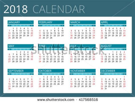 Calendar 2018 Malaysia Vector 2018 Stock Photos Royalty Free Images Vectors