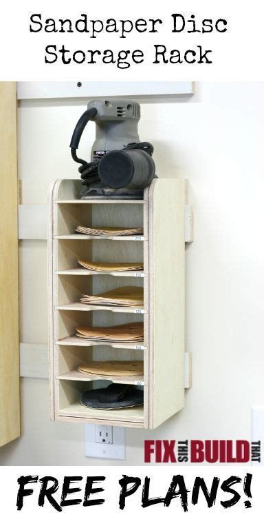 sandpaper disc storage rack garage organization garage