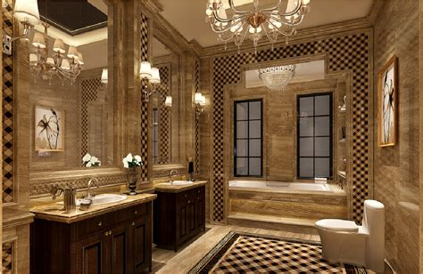 european neoclassical bathroom design 3d