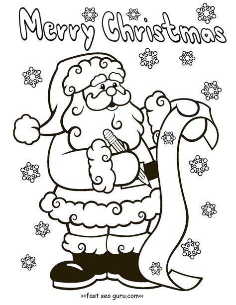 vintage santa coloring page vintage santa claus coloring pages