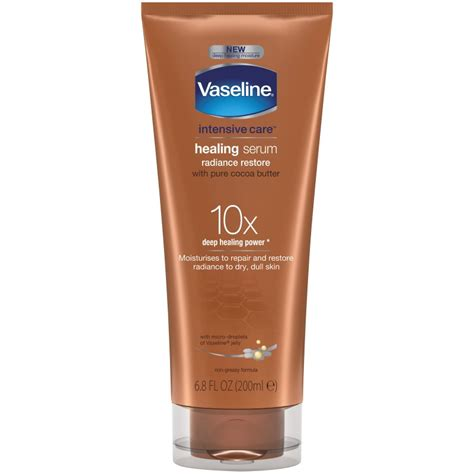 tattoo healing cocoa butter vaseline intensive care healing serum radiance restore