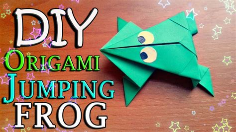 How To Make Easy Paper Toys - diy how to make easy origami jumping frog from paper