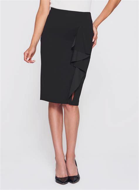 ruffle front pencil skirt melanie lyne