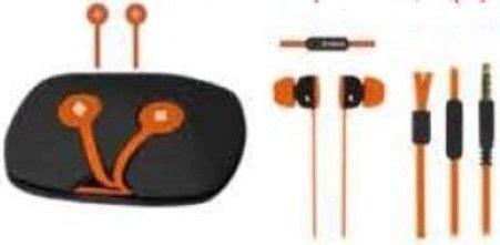 Polaroid Earphone Sports With Ear Tip Mic Stereo E078 Or polaroid php741 or in ear flat cord earphones with anti tangle orange storage capsule