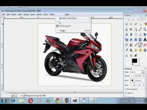 how to change the color of a car motorcycle on gimp