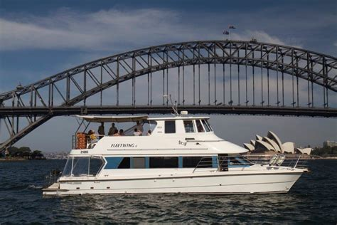 house boat sydney fleetwing ii gallery sydney harbour cruises on brown