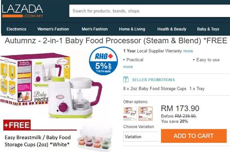 Blender Makanan Bayi beli blender makanan bayi anda ecommerce in malaysia