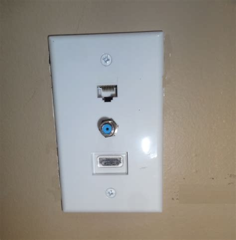 coaxial wall plate wiring diagram serial cable wall plate