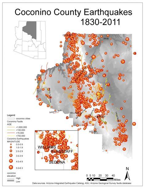 Coconino County Records Coconino Historical Eqs Arizona Geology Magazine