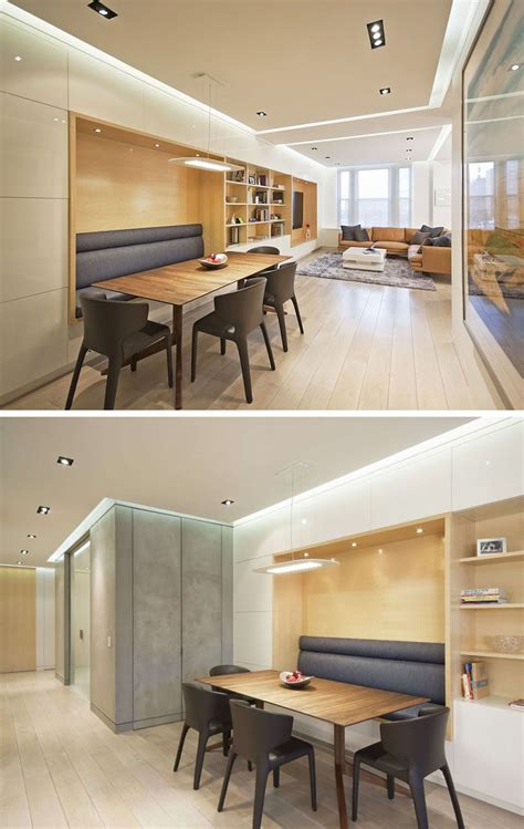 build banquette seating dining room design idea use built in banquette seating to save space contemporist