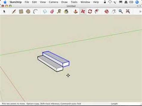 google sketchup stairs tutorial sketchup making stairs the treads are components method