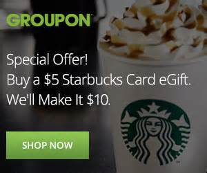 How To Redeem Groupon Gift Card - starbucks groupon coupon deal edealsetc com coupon codes coupons promo codes