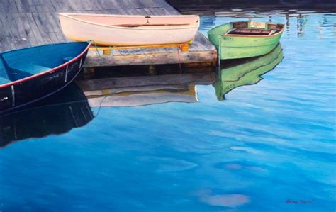 x13 drift boat fine art oil paintings fine art artist adriano manocchia