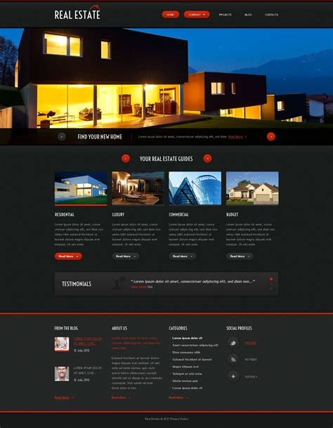 Real Estate Agency Responsive Website Template 52976 Real Estate Responsive Website Templates Free