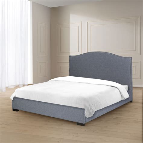 jameson bed jameson slate fabric king bed xcella