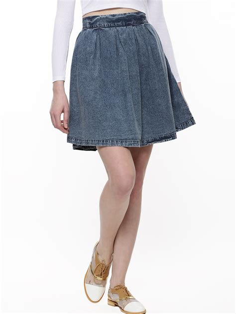 buy denim skater skirt for s