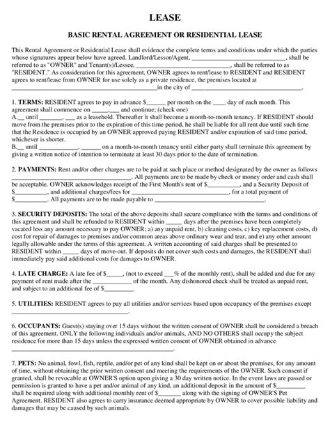 simple rental agreements 2018 rental agreement fillable printable pdf forms