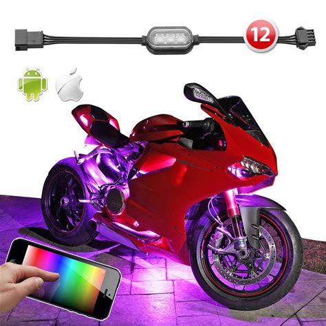 motorcycle led lights 12 pod ios android app wifi led motorcycle led
