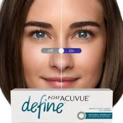 acuvue colored contact lenses sparkle contact lenses 1 day acuvue define by