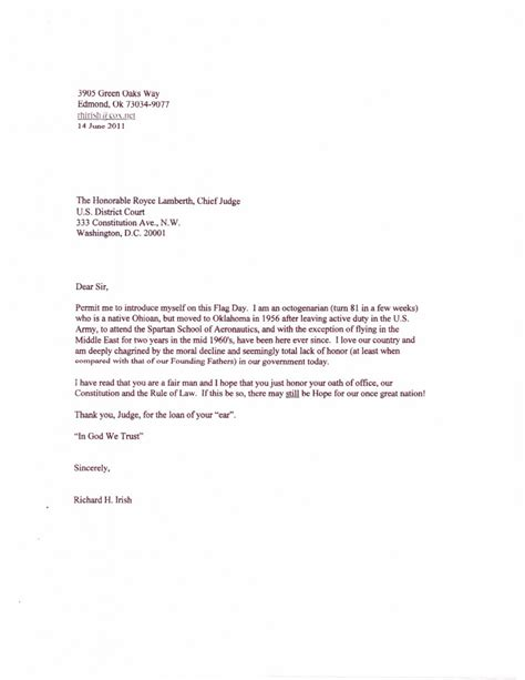 letter to a judge template search results for writing a letter to a judge on