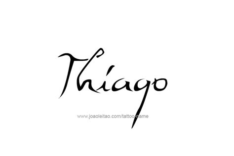 thiago name tattoo designs