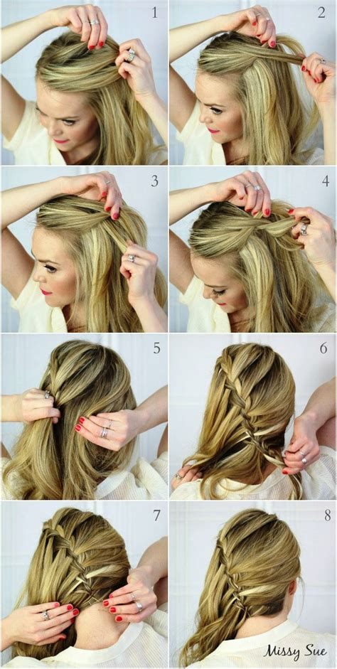 trenza cascada paso a paso best 25 trenza cascada ideas on pinterest
