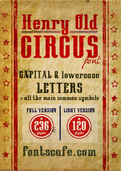 circus layout definition quot henry circus pack quot font fonts cafe