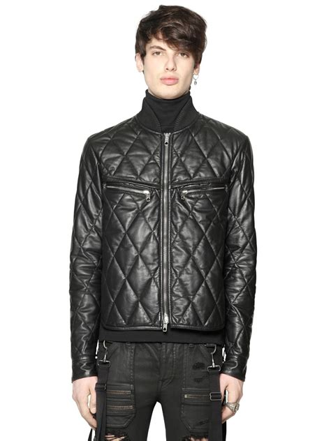 Diesel Dz4291 Gold Leather diesel black gold quilted nappa leather jacket in black lyst
