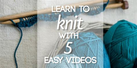 learning to knit teach yourself to knit blissfully domestic