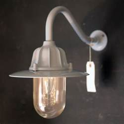 Traditional Wall Lights Traditional Swan Neck Outdoor Wall Light Ip64 In Grey