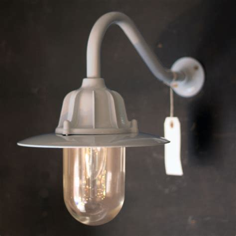 traditional lights traditional swan neck outdoor wall light ip64 in grey