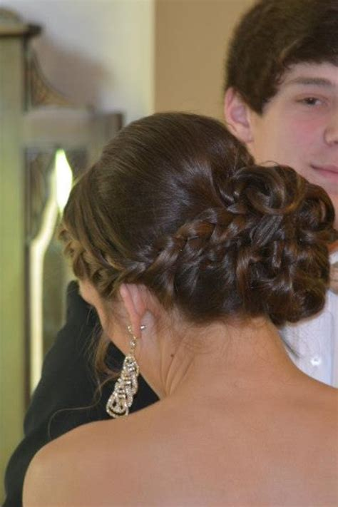 brady braided formal updo prom hair updo with braid hair styles pinterest