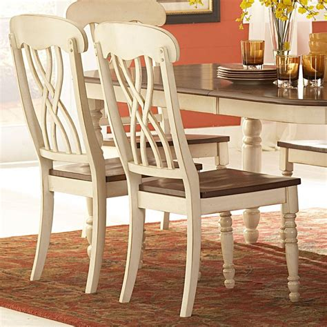 Tribecca Home Dining Chairs by Mackenzie Country Style Two Tone Dining Chairs Set Of 2
