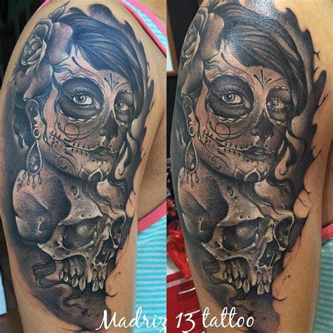 catrinas tatuajes brazo