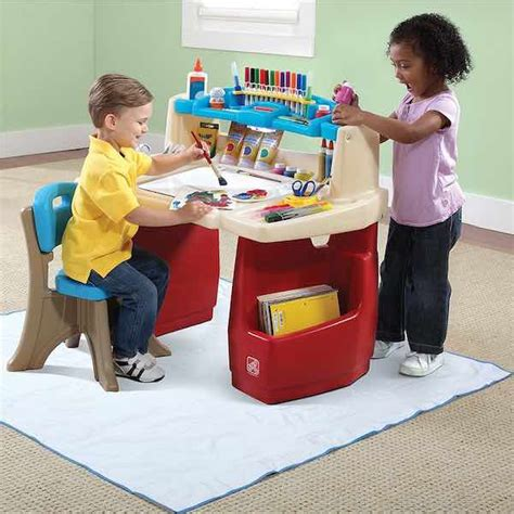 step2 deluxe desk with splat mat step2 deluxe desk with splat mat only 42 99