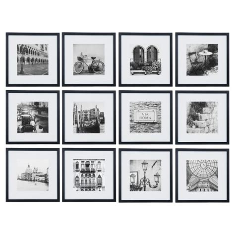 12 X12 Matted For 8 X8 Photo by 12 12 Quot X12 Quot Black Frame Kit Matted To 8 Quot X8