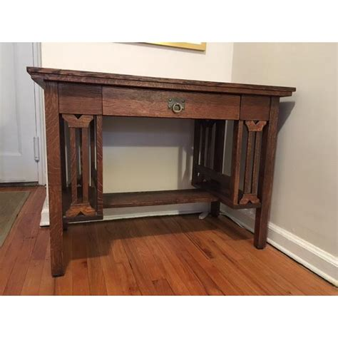 arts crafts style library arts and crafts mission style oak library table chairish