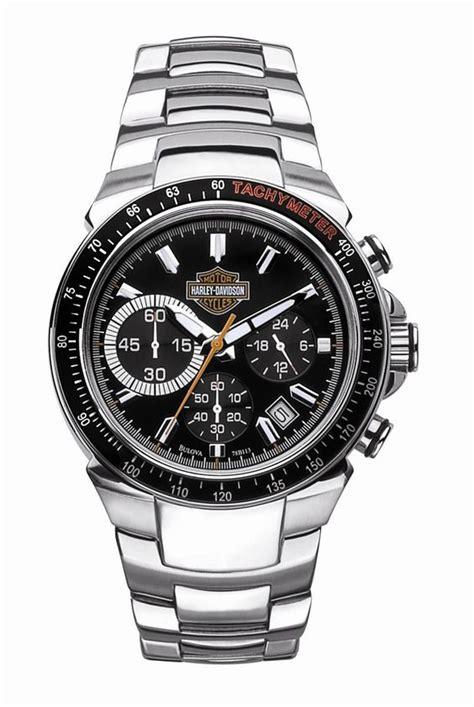 Harley Davidson Chronograph Hd6620 Leather mens harley davidson chronograph tachymeter by