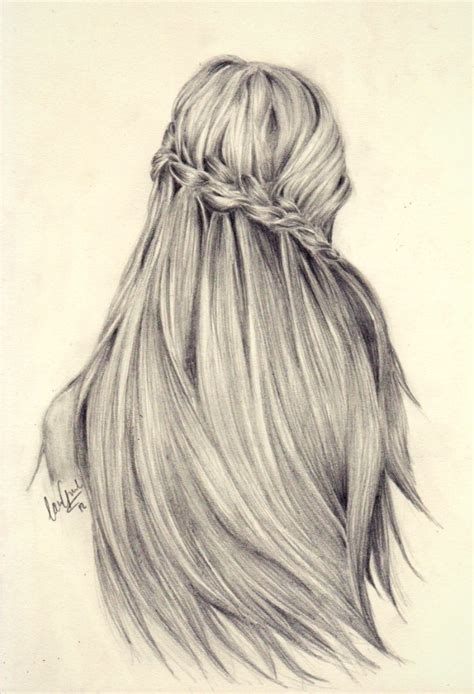 sketches of hair hair art image 2104524 by lady d on favim com