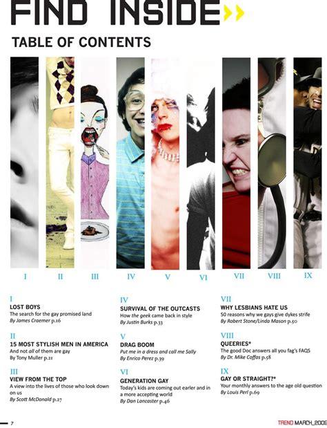 magazine layout contents magazine contents on pinterest content page fashion